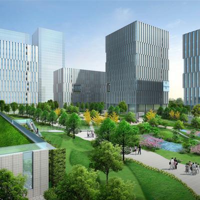 现代风格园林-中心绿化广场